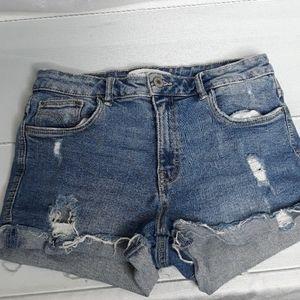 Zara Trafaluc denim wear short